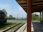 Bahnhof mit Meerblick.