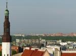 Die sowjetischen Wohnsilos hat man hier gekonnt an den Stadtrand verbannt.