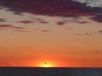 Der Sonnenuntergang dauert hier etwas länger...