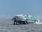 Tragflächenschnellboote für Touristen.