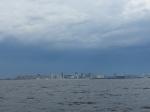 Von See aus sieht St. Petersburg eher langweilig aus...
