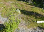 Ein Steinlabyrinth. Vorzeitlicher Glücksbringer für Fischer.