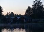 Auch hier zieht der Dunst des warmen Wassers abends durch die Gegend.