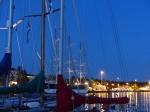 Mariehamn bei Nacht.