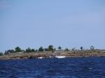 Die Umgebung von Holmsund war noch voller Urlauber.