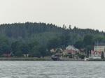 Endlich erscheint der Kanal am Ende des Fjordes. Superstimmung.