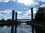 Die Eisenbahnbrücke von Trollhättan. 45 min. Wartezeit....