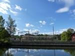 Wasserkraftwerk Trollhättan. Vattenfall mal wörtlich.