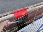 Schleusen ist hier auch allein echt easy. Einfach das Boot an der Leiter festhalten.